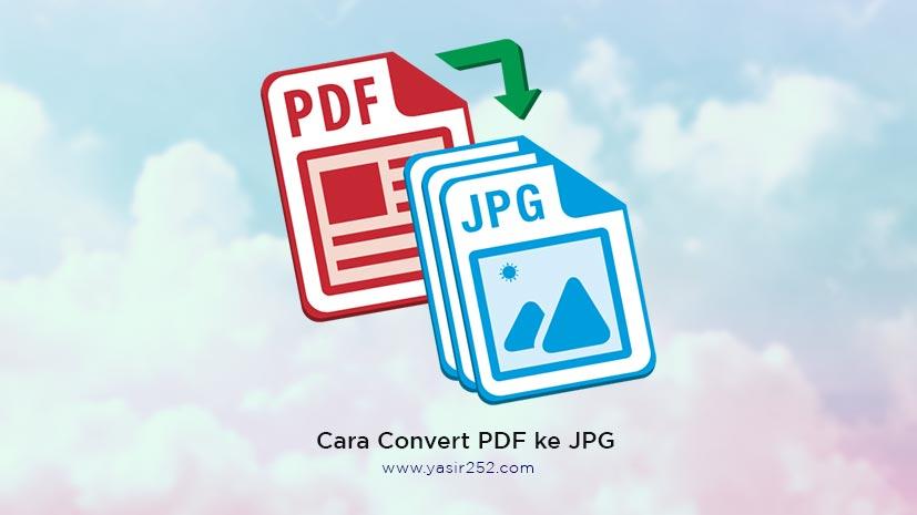 Cara Convert PDF ke JPG