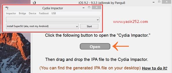 Cara Jailbreak iOS 9 Pangu Tools