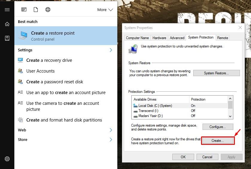 Cara Membuat Restore Point Windows 10