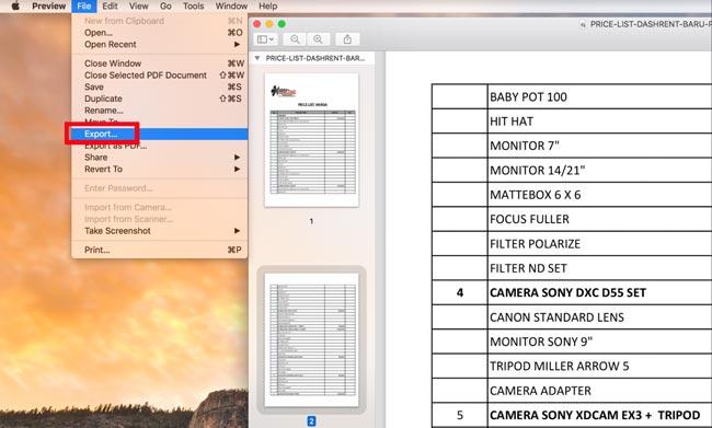 Export File PDF Menjadi Image di MacOS Preview