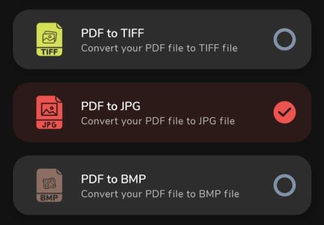 PDF Converter Pro Android PDF To JPG