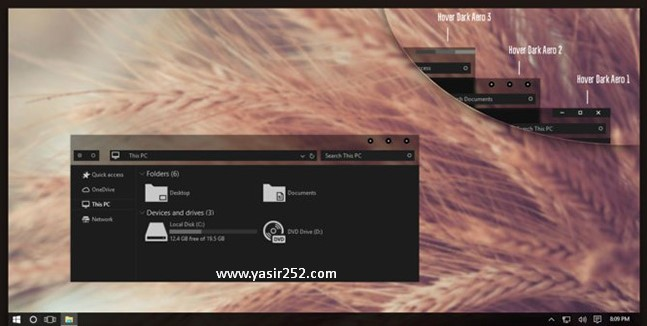 Cara Merubah Tema Windows 10 Dark Aero Theme