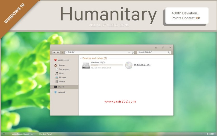 Cara Merubah Tema Windows 10 Humanitary Theme