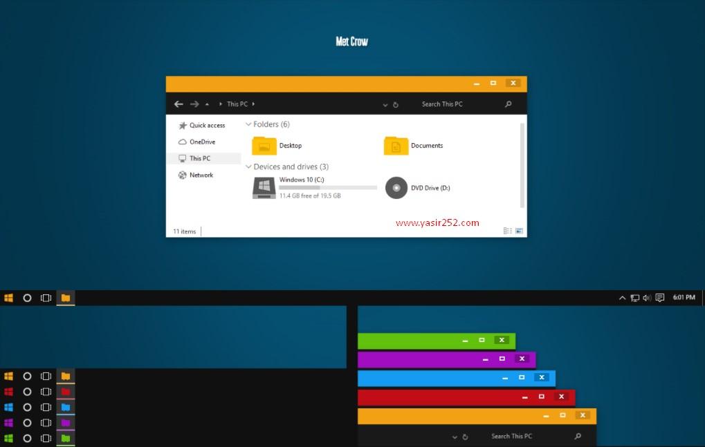 Tema Terbaik Windows 10 Met Crow