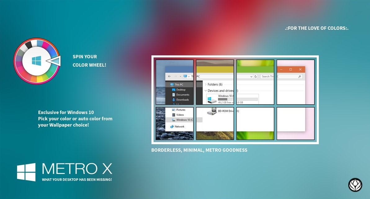 Cara Merubah Tema Windows 10 Metro X Theme