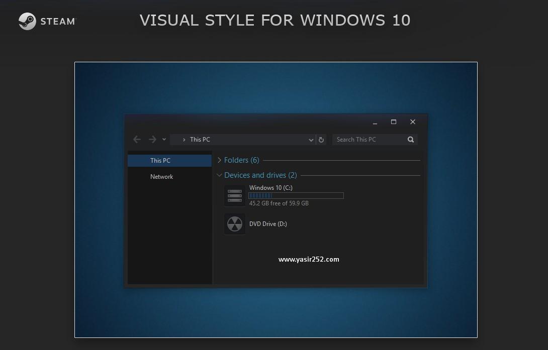 Cara Merubah Tema Windows 10 Steam Theme