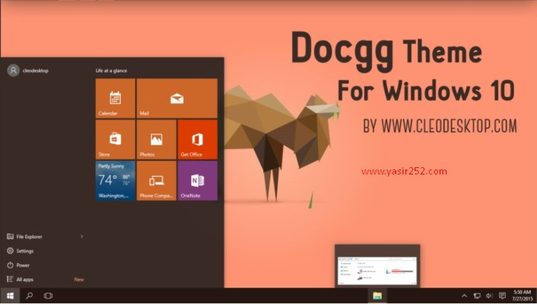 Tema Terbaik Windows 10 DocGG Theme