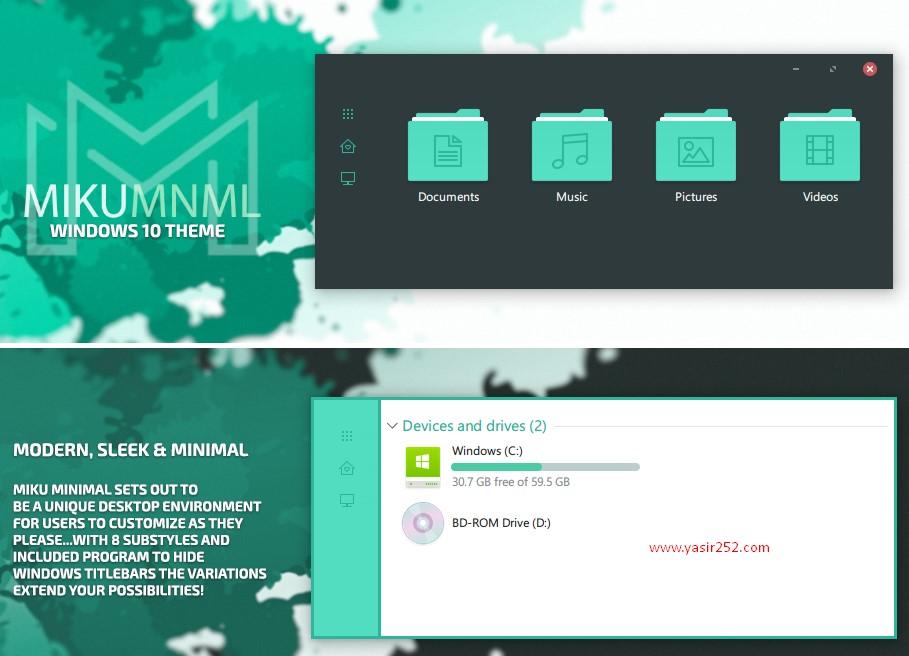 Tema Terbaik Windows 10 Miku Yasir252