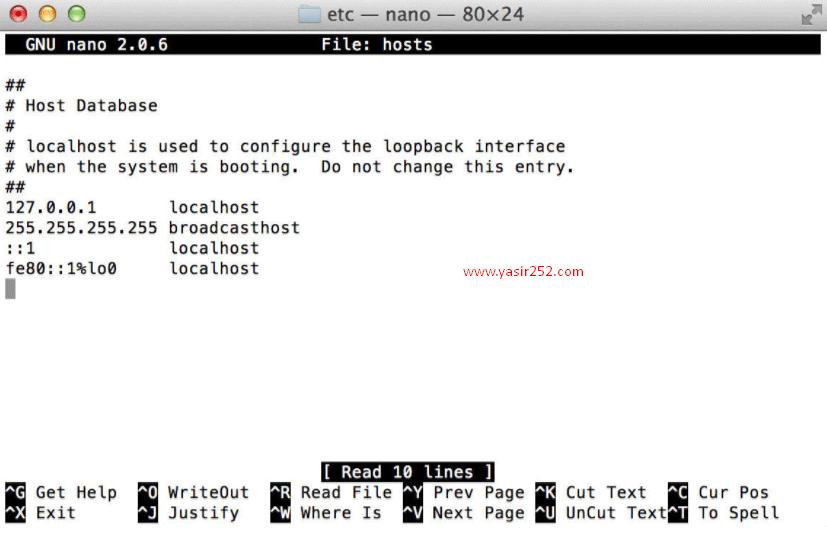 Cara Mengedit File Hosts MacOSX