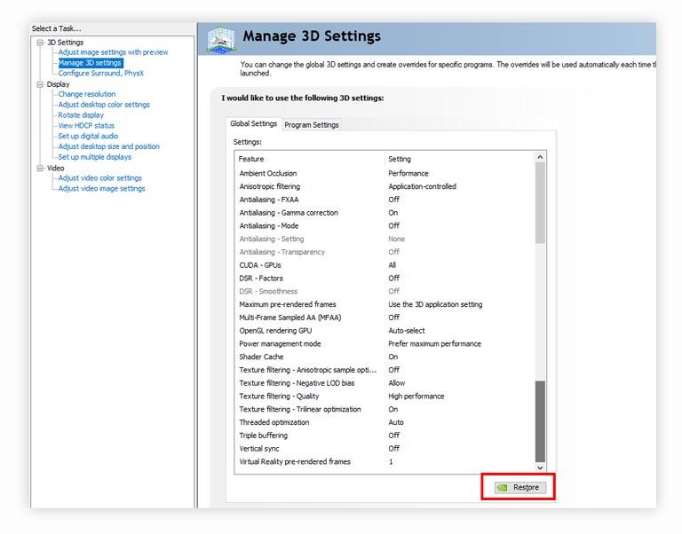 Cara Meningkatkan FPS Game Nvidia Control Panel 3D Settings