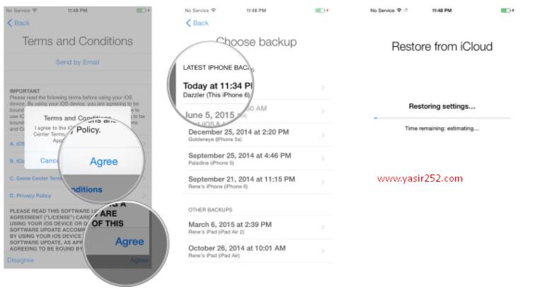 Cara Restore Backup iPhone ke iCloud