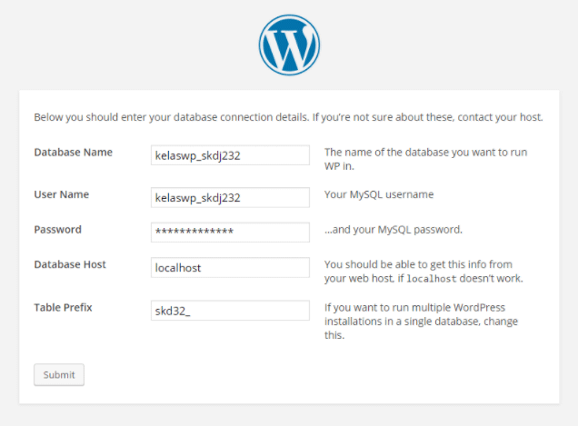 Cara Install WordPress Website