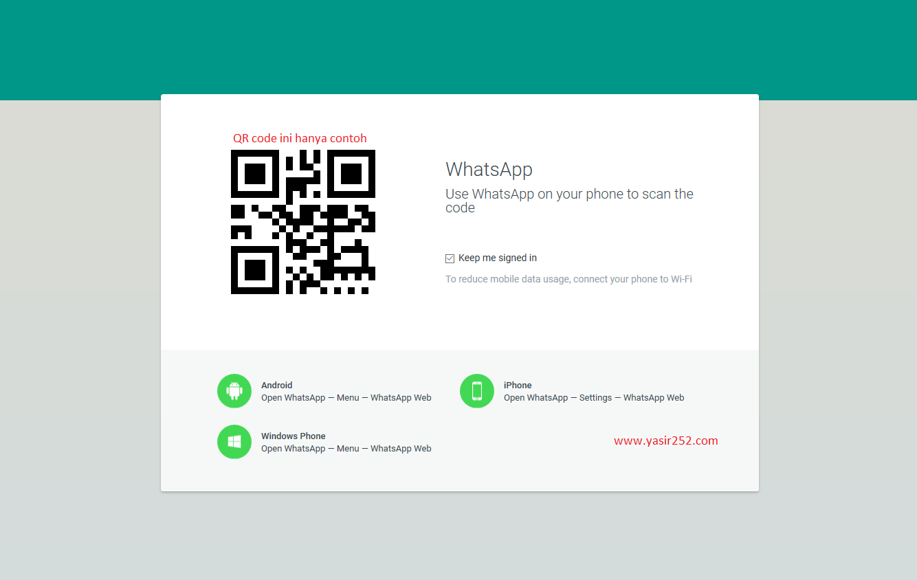 Cara menggunakan whatsApp web di browser pc