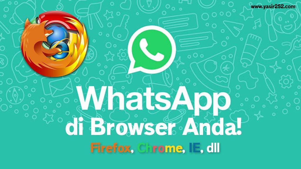Cara Menggunakan Whatsapp Web di PC Browser Yasir252