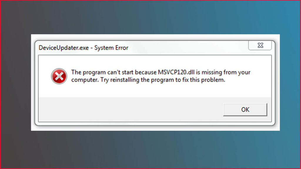 Cara Memperbaiki MSVCP120 DLL Error Windows