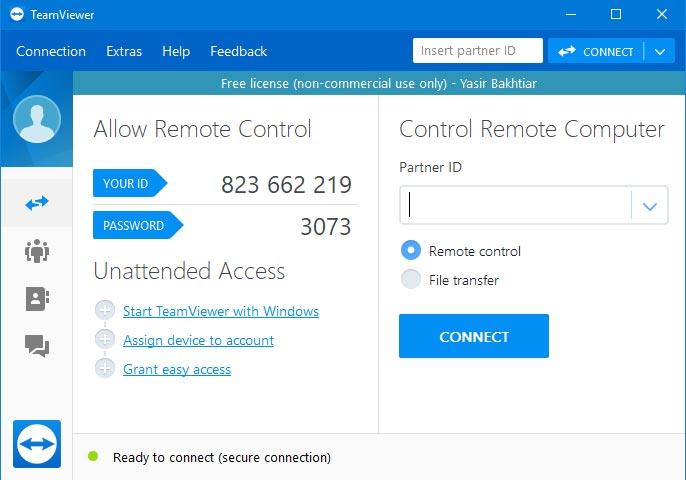 Aplikasi teamviewer adalah software untuk remote pc jarak jauh