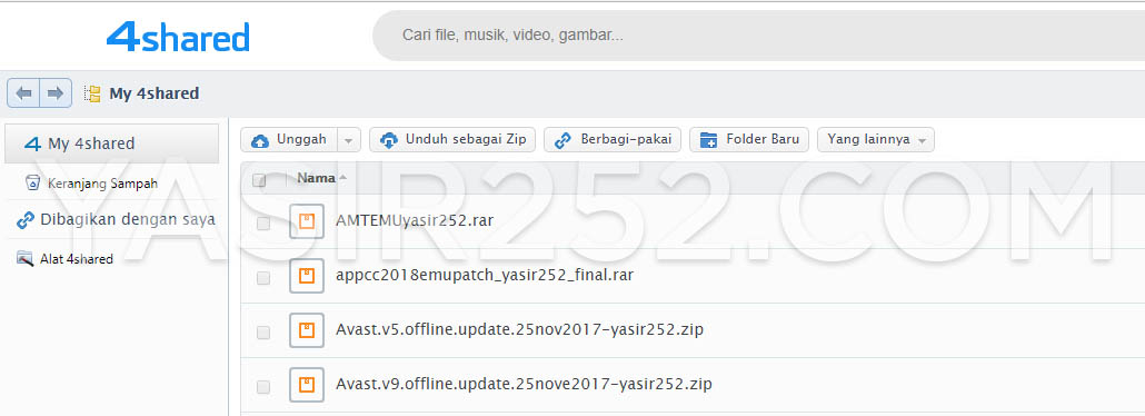 4shared File Hosting Cloud Storage Terbaik 2017 Yasir252
