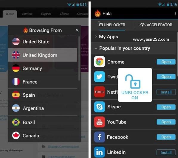 Aplikasi VPN Terbaik Android 2018 Hola VPN Yasir252