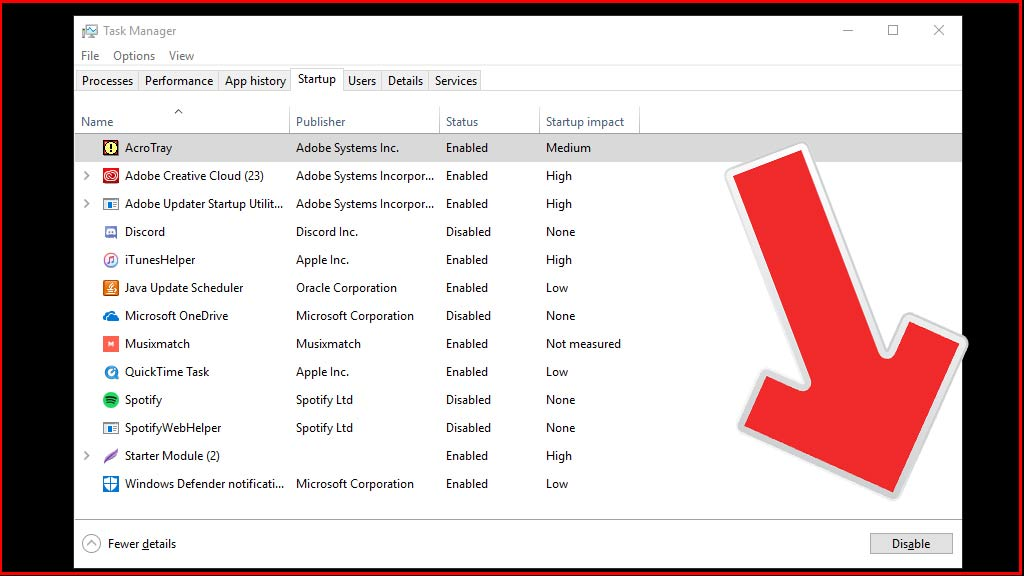 Cara Disable Startup Program Windows di Task Manager