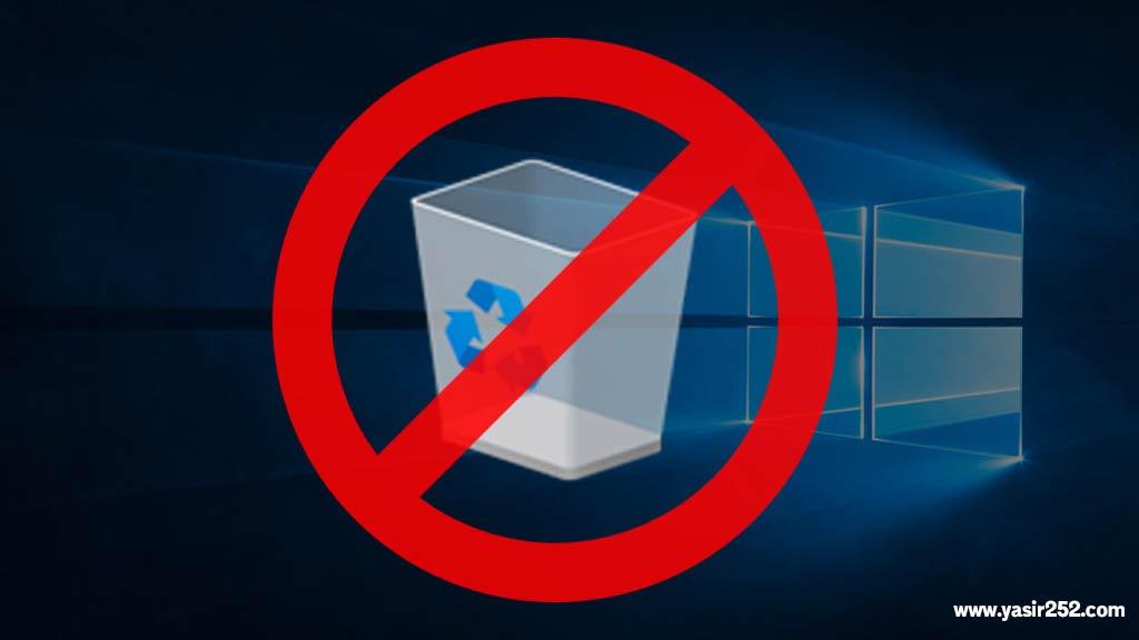 Menghilangkan Recycle Bin
