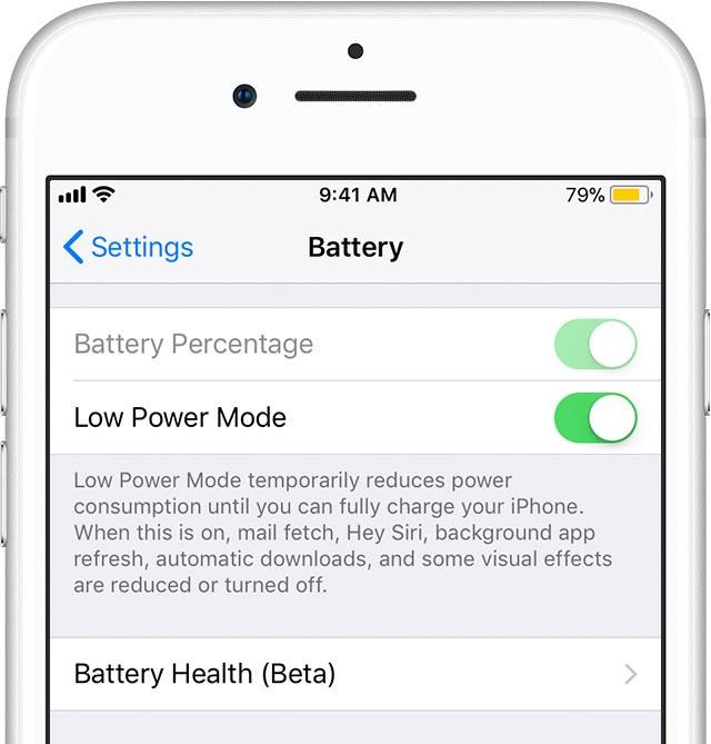 Hemat baterai iphone dengan low power mode ios 11