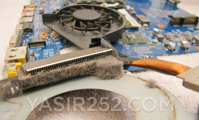 Laptop tidak bisa nyala karena banyak debu