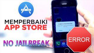 cara memperbaiki app store tidak bisa download di iPhone iPad Yasir252