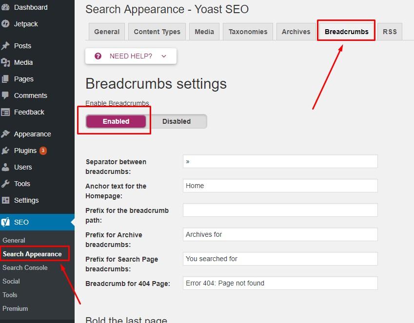 Cara Menambahkan Breadcrumbs di WordPress dengan Yoast SEO