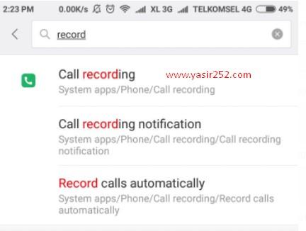 Cara Merekam Telepon Xiaomi Smartphone Otomatis Yasir252
