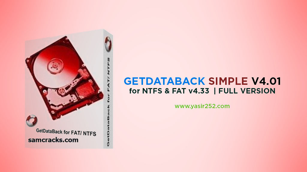 Aplikasi data recovery - download getDataBack full version crack