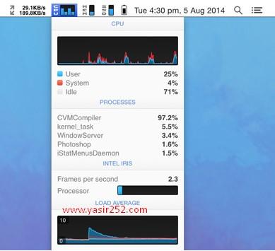 Download iStats Full Version v6.1 MacOSX iStats Menu Yasir252