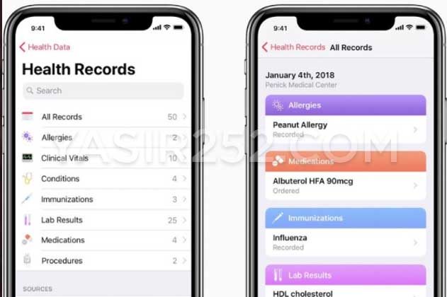 Fitur Terbaru iOS 11 Aplikasi Kesehatan iPhone iPad