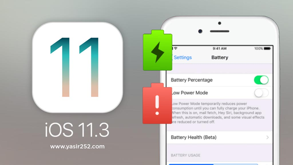 Fitur Terbaru iOS 11 Memeriksa Kondisi Baterai iPhone iPad Yasir252