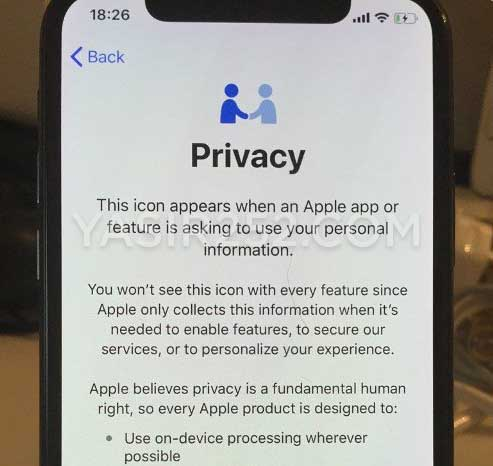 Fitur Terbaru iOS 11 Privacy Screen Setting