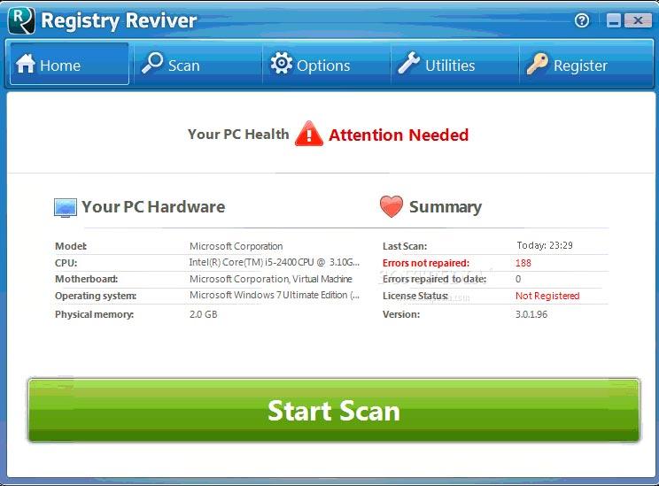 Registry Reviver Crack Full Version Free Download