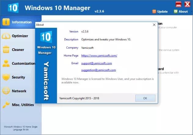 Windows 10 Manager Portable