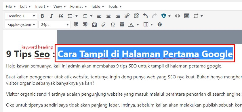 9 Tips SEO Website Halaman Pertama Google Yasir252
