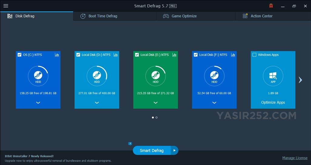 Cara Defrag Hardisk Download Smart Defrag IOBit Terbaru Gratis Full Keygen