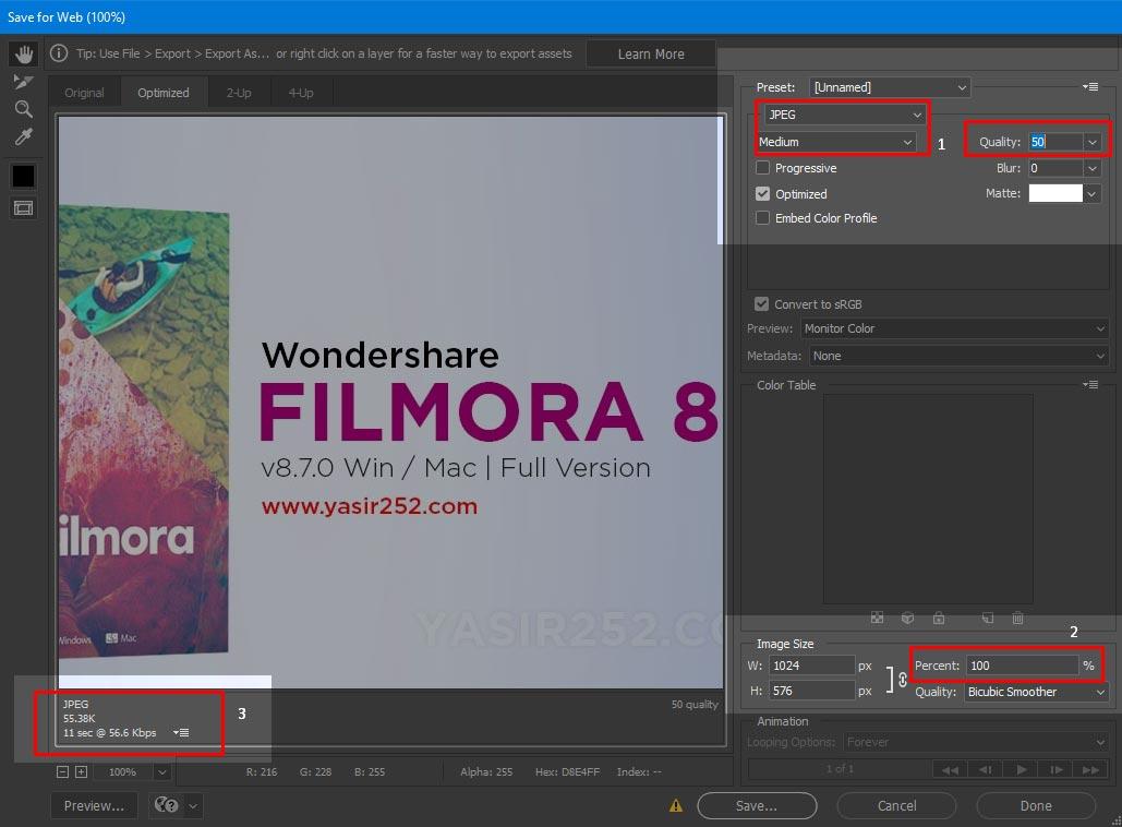 cara mengkompres file jpg dengan photoshop