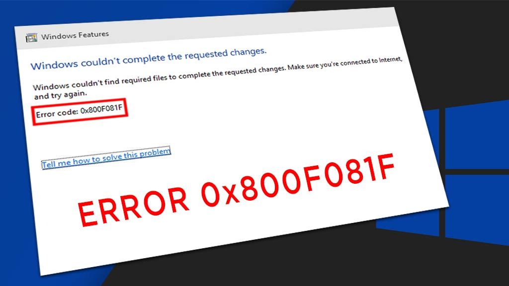 Cara Memperbaiki Error 0x800F081F NET Framework 3 5 | YASIR252
