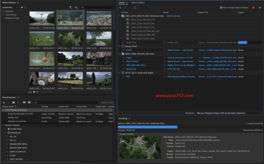 Download Media Encoder Full Version CC 2018 Yasir252