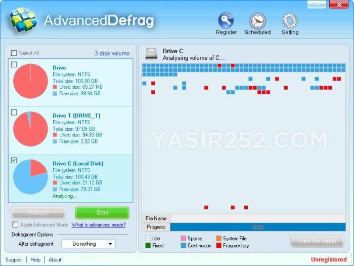 Unduh versi lanjutan dari perangkat lunak Defrag lengkap