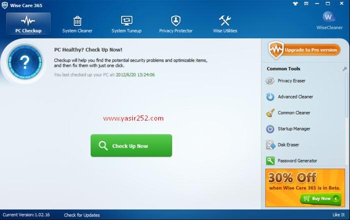 Download Wise Care 365 Pro Full Version Yasir252