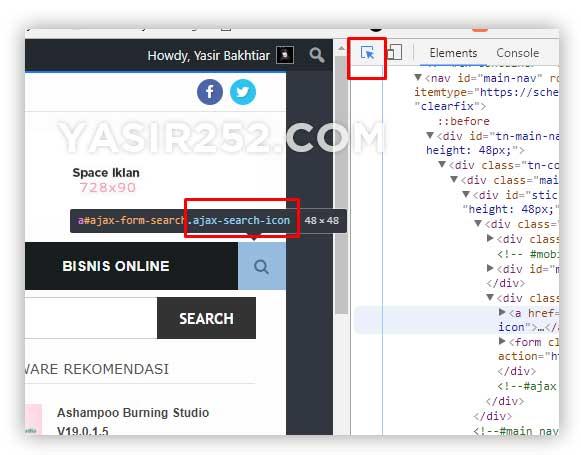 Membuat efek berkedip css inspect browser