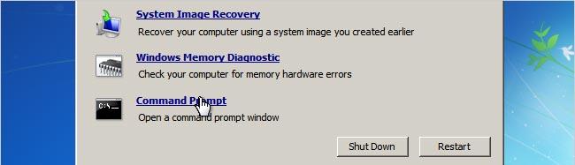 Cara membuka password windows 7