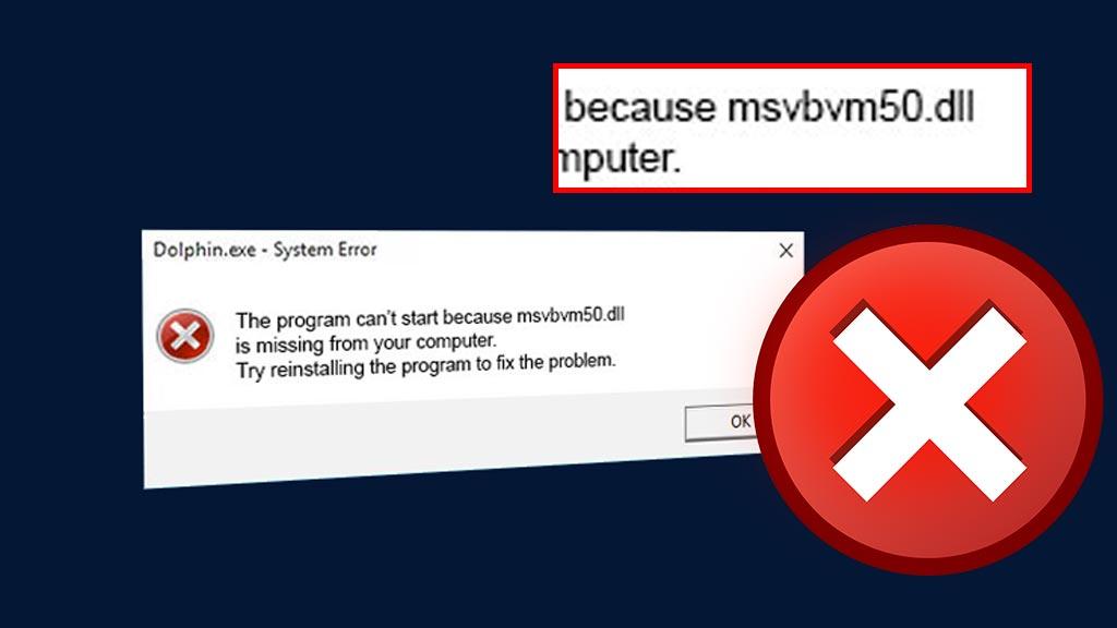 Cara memperbaiki msvbvm50 dll missing error windows 10