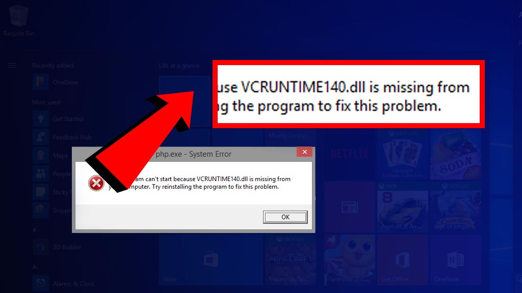 vcruntime140 missing fix