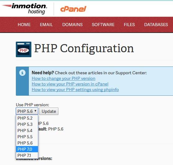 Cara update php di cpanel