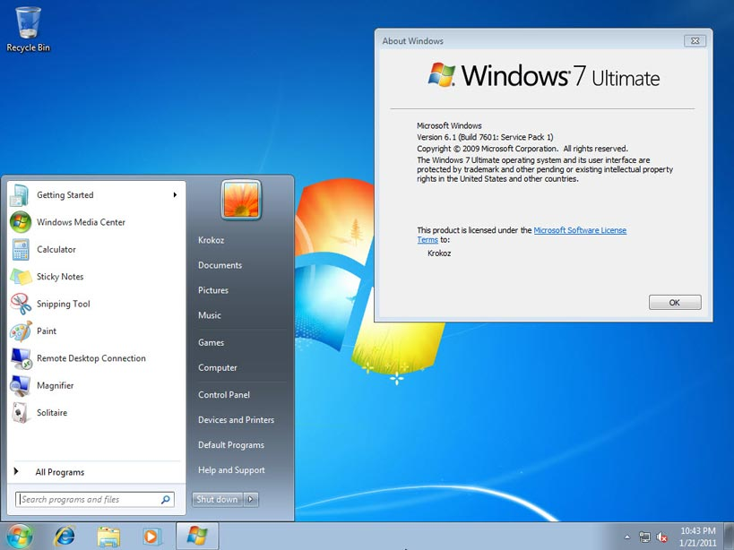 windows loader for windows 7 ultimate service pack 1