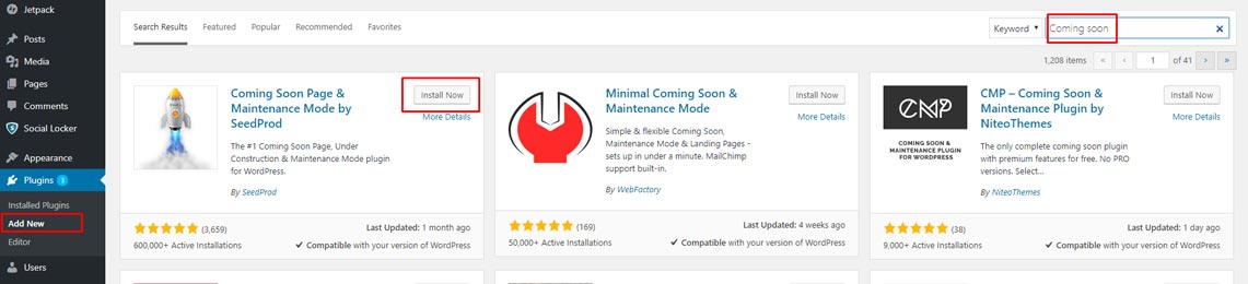 Plugin coming soon maintenance mode wordpress